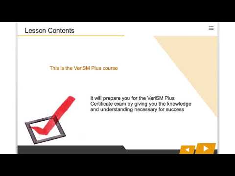 VeriSM Plus Course Introduction